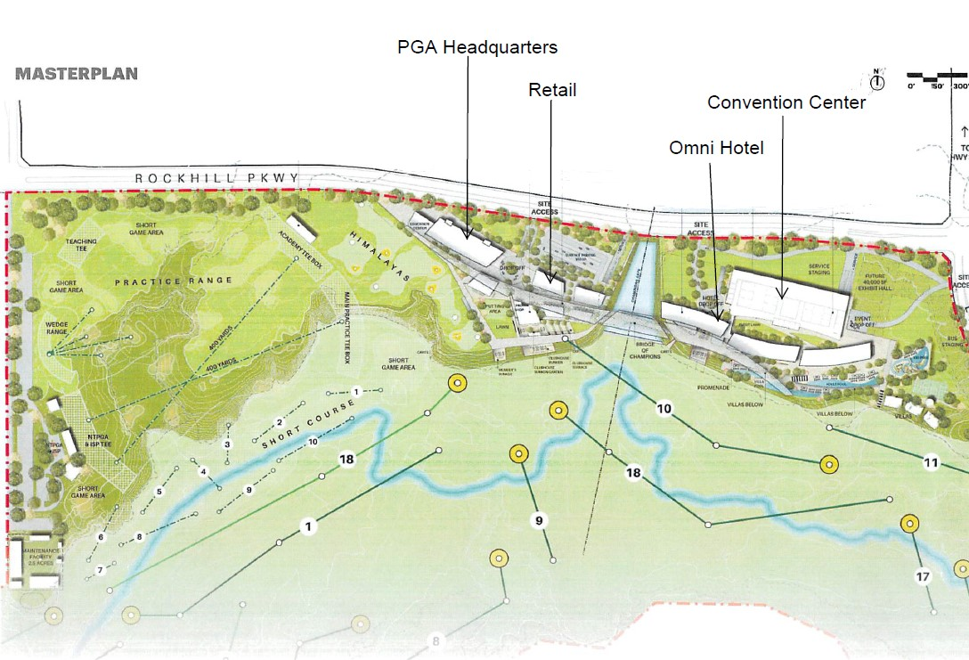 Master plan of future PGA site.